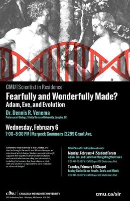 2019 CMU Scientist in Residence | Dr. Dennis R. Venema (videos)