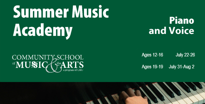 REGISTER ONLINE NOW FOR the SUMMER music academy