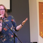 CMU's Spiritual Life Facilitator Danielle Morton speaks at one of the on-campus chapel gatherings