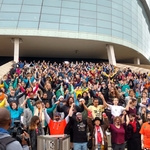 Manitoba Youth for Climate Action's 'die-in' at Winnipeg's Canadian Museum for Human Rights on September 20