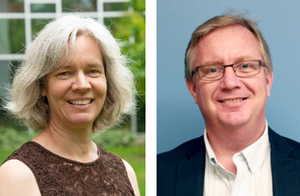 Conrad Grebel University College Archivist-Librarian Laureen Harder-Gissing and Brian Froese, Associate Professor of History at Canadian Mennonite University