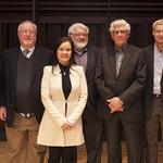 L-R: Tom Denton, Mike Molloy, Dr. Stephanie Stobbe, Peter Duschinsky, John Wieler, Brian Dyck, and Dr. Shauna Labman.