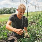 Nicholas Rempel at work on the farm