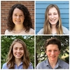 2018's Leadership Scholarship winners: (clock-wise from top left) Katherine Ulrich, Johanna Klassen, Levi Klassen, and Annika Loeppky,