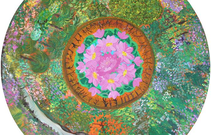 Painting 2 by Manju Lodha