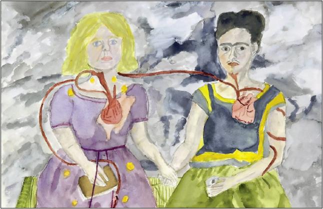 Me and Frida Kahlo