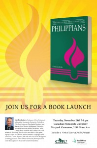 Philippians Book Launch Poster