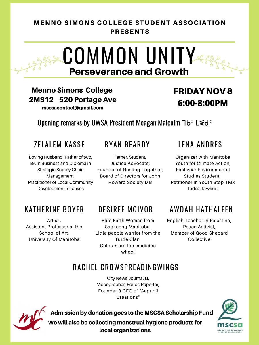 2019 Common Unity event poster