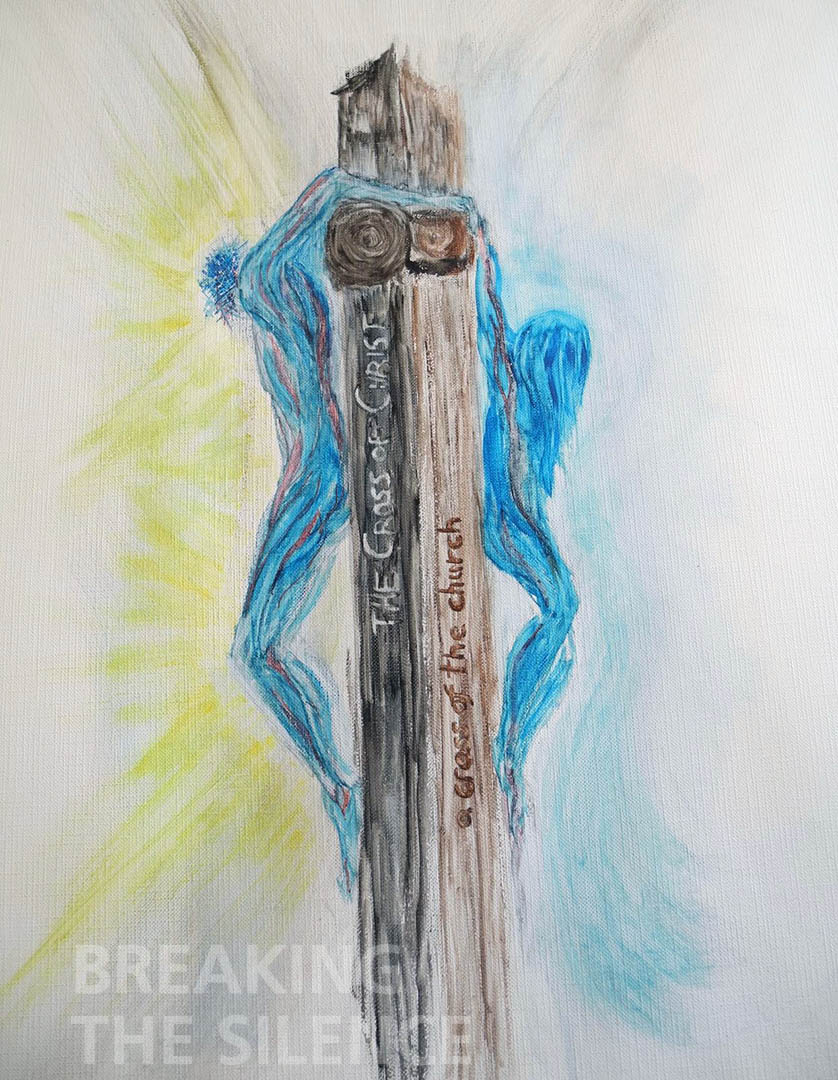 29 Julia (Juls) Rempel, 'The Cross of Christ, a cross of the church', Watercolor, Acrylic and Ink, $300.00