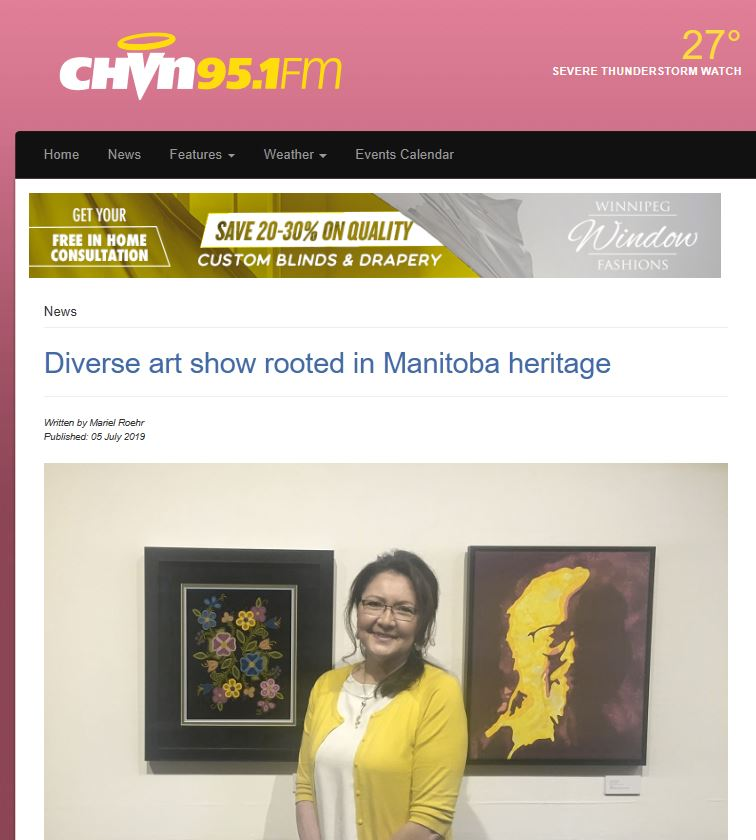CHVN article titled Diverse art show rooted in Manitoba heritage by Mariel Roehr