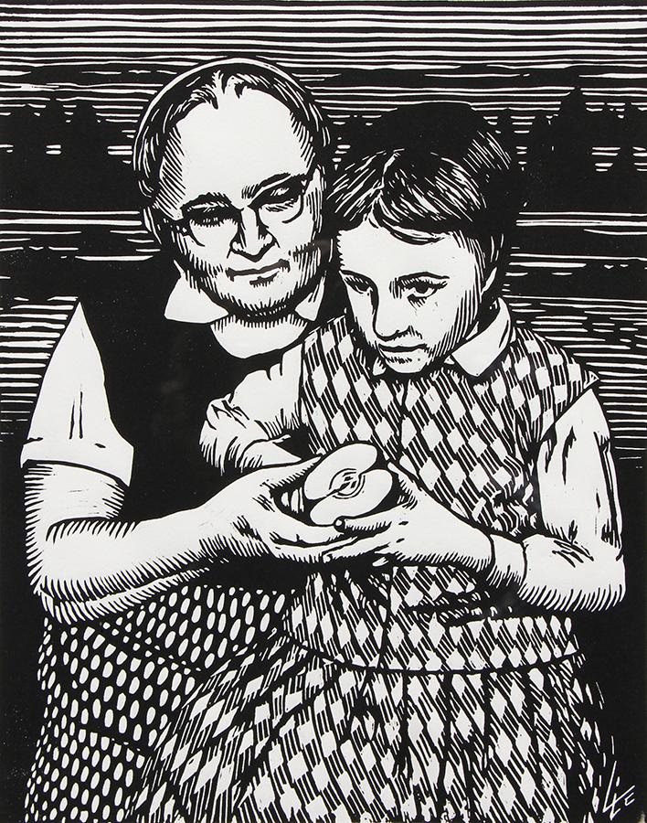 Sharing an Apple & a Moment, Victor Kleinsasser