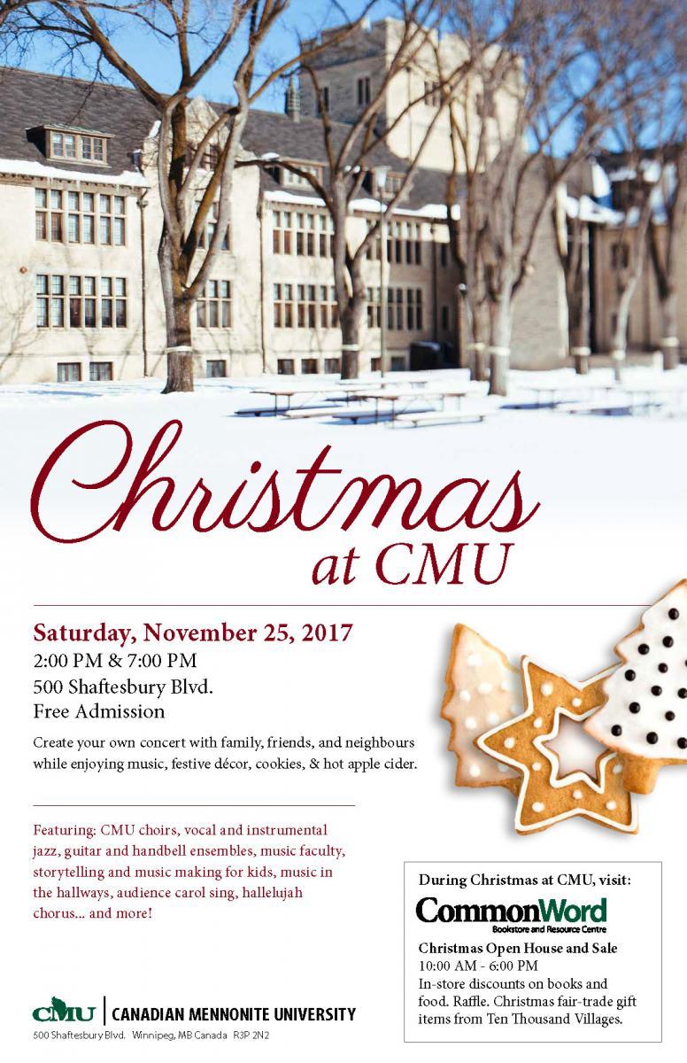 Community invited to celebrate Christmas at CMU | CMU